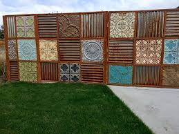 sheet metal privacy fence. Image Of: Awesome Corrugated Metal Fence Sheet Privacy