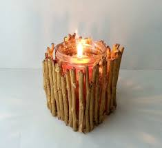 ... A twig candle holder is a super easy DIY project