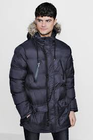 Quilted Parka Jacket With Faux Fur Hood | Boohoo & Quilted Parka Jacket With Faux Fur Hood Adamdwight.com