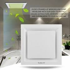 white 25cm square ceiling ducted exhaust fan air flow bathroom kitchen laundry