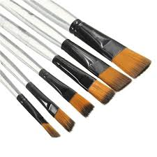 best promotion 6pcs artist transpa handle paint brush set artist nylon oil painting brushes art painting