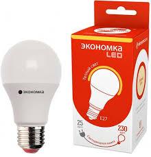 Отзывы на <b>Лампочка Экономка LED</b> A60, Теплый свет, <b>E27</b>, 25 Вт ...