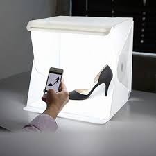 com mini photo studio led light box photography led lighting tent kit small portable shooting box with white and black background pads