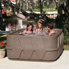 premium 400 4 person plug and play hot tub with 20 stainless jets heater