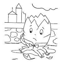 humpty dumpty coloring pages coloring page free coloring pages humpty dumpty nursery rhyme coloring page
