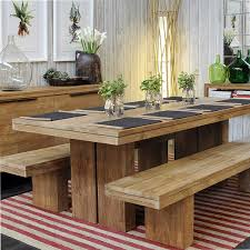 Dining Table Bench Seat » Gallery DiningDining Room Table With Bench Seats