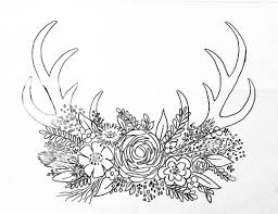 Free Printable Coloring Sheet Deer Antler