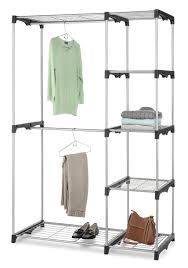 whitmor double rod freestanding closet