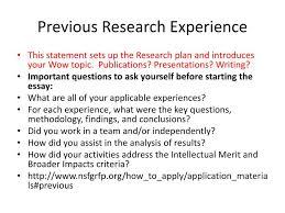 research experience essay nsf research experience essay