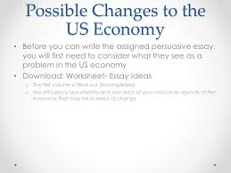 the american economy objectives describe the key characteristics  29 possible changes to the us economy
