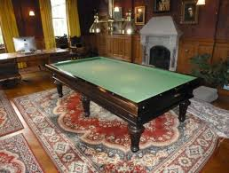 rug under pool table
