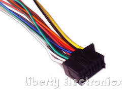 new 16 pin auto stereo wire harness plug for sony mex bt3700u mex new 16 pin wire plug harness for kenwood kdc bt340u player