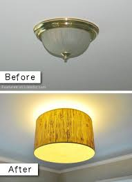 update an old light fixture with a drum lamp shade 27