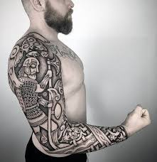 50 Valknut Tattoo Designs For Men Norse Mythology Ink Ideas