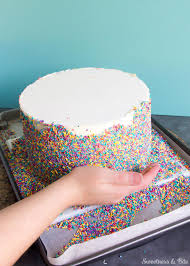 Decorating With Sprinkles Sprinkle Cake Tutorial Sweetness Bite