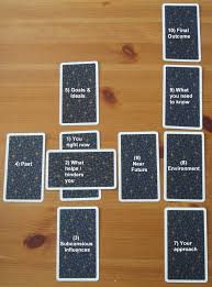 celtic cross layout cards pictured are the universal waite tarot