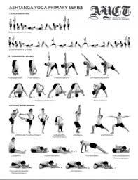Ashtanga Poses Chart Primary Intermediate Series Cheat Sheets David Robson Yoga