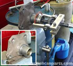 hub bearing puller. to clean up the hub, we used a standard bearing puller remove remains hub t