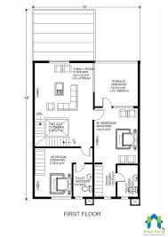 30x40 duplex ghar floor plan 1200 sqft plot area