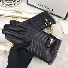 men fur lined mittens warm genuine leather gloves ng1