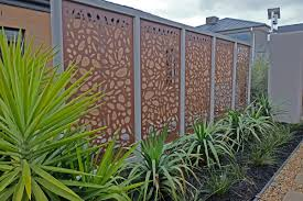 Laser cut decorative screens make a stylish alternative to plain fencing.  These are QAQ's '