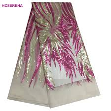<b>2020 Latest</b> Nigerian Sequins Laces Fabrics High Quality Tulle ...
