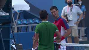 his shirt by opponent Hugo Dellien ...