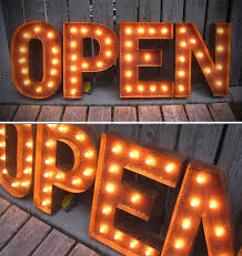 Marquee Sign With Lights