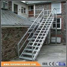 prefab outdoor galvanized stairs staircase design made in china premade pre wood steps prefab outdoor steps wood