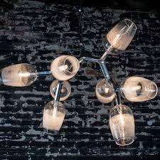8 light scuro antler chandelier