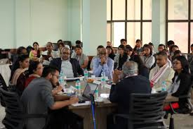 a round table conference on the theme communication for development critical approaches as part of imageind 2017 the sonapur edition organised by the
