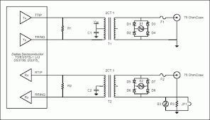 t3 e3 sts 1 liu secondary surge protection design application recommended metallic surge protection circuit for t3 e3 sts