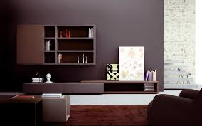 Wall Cabinets For Living Room Contemporary Living Room Wall Unit Lacquered Wood L103 Md House