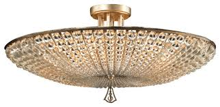 john richard lighting. Beaded Flush Mount Lighting John Richard Six Light Crystl Semi Traditional