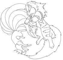 Ninetales And Arcanine Line By Therainedrop Line Art Pokemon