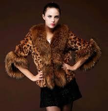 details about womens luxury leopard winter warm jacket parka big faux fur coat outwear fashion