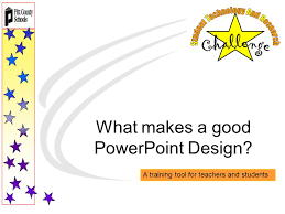 what makes a good powerpoint design a training tool for teachers 1 what makes a good powerpoint design a training tool for teachers