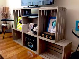 entertainment center from crates