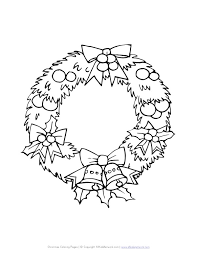 Christmas Wreath Coloring Page All Kids Network