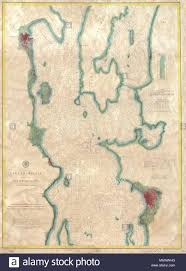 English A Rare Hand Colored 1874 Coastal Chart Of The
