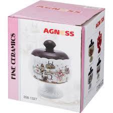 """<b>Сахарница</b> """"<b>грация</b>"""" 13*13*16 см. <b>600 мл</b>. <b>Agness</b> (358-1408) по ..."""