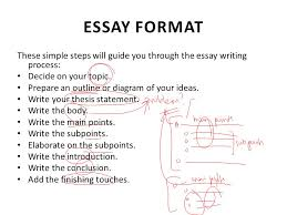 lecture essay writing ppt video online  essay format these simple steps will guide you through the essay writing process decide on