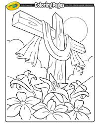 Small Picture Cross Easter Coloring Page Easter activities for kids