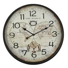 old world map wall clock map wall clock