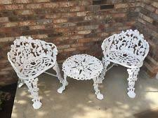 white iron garden furniture. Antique Cast Iron Grape Grapevine Garden Patio Furniture Chairs \u0026 Table White