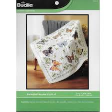 Shop Plaid Bucilla ® St&ed Cross Stitch - Lap Quilts - Butterfly ... & ... Bucilla ® Stamped Cross Stitch - Lap Quilts - Butterfly Collection Adamdwight.com