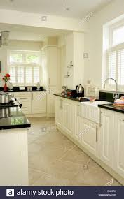 Limestone Kitchen Floor Limestone Floor Tiles In White Hall With Lantern Lighting And