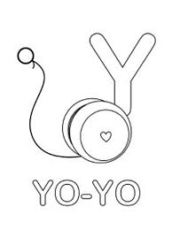 Small Picture Learning YoYo for Letter Y Coloring Page Learning YoYo for Letter