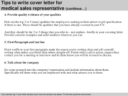 medical  s representative cover letter      tips to write cover letter for medical  s representative
