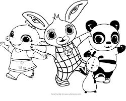Disegno Di Bing E I Suoi Amici Da Colorare